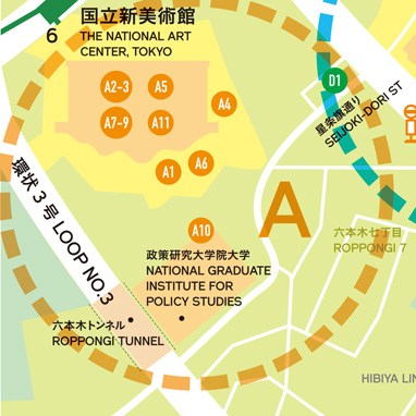 The National Art Center, Tokyo zone MAP