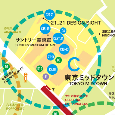 The Tokyo Midtown zone MAP