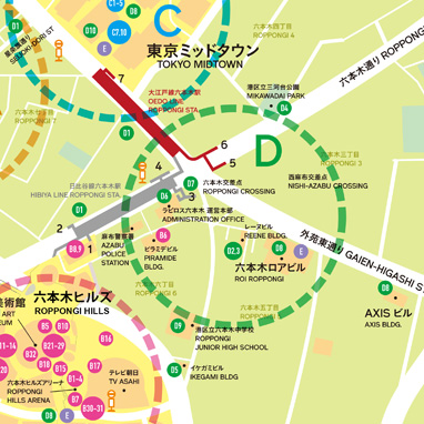 The Roppongi Crossing zone MAP